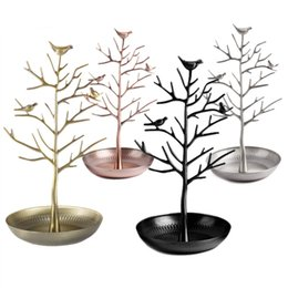 Wholesale Necklace Tree Holder - Bird Tree Jewelry Display Stand Earring Necklace Bracelet Rack Holder Display Jewelry holder