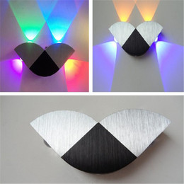 Wholesale Glass Wall Case - Warm White Led Wall Light Aluminum Case Toughened Glass Multi-color Lighting Wall Mouted Lamps LED Wall Sconces for Decoration HDWB