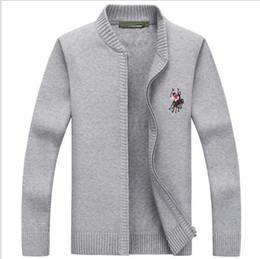 Wholesale Big Size Long Cardigan - Autumn Winter Brand Clothing Mens Cardigans Sweater Casual Zipper Men's Sweaters Winter Big size Warm Stand Collar Sweater Men Coats