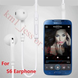 Wholesale Earbuds Headphone Mic Volume Control - For 3.5mm In-Ear Samsung S7 Wired Earphones Earbuds Headset With Mic & Remote Volume Control Headphones For Galaxy S6 Edge S7 With Packaging