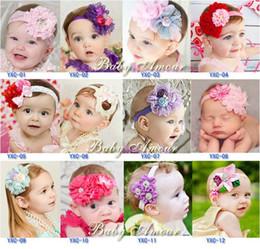 Wholesale Elegant Children Hair Accessories Wholesale - TOP Hot 12 design Baby elegant Headbands Girls Cute Hair Band Infant Lovely Headwrap Children Bowknot Elastic Accessories Sweet girl