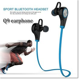 Wholesale Wholesale Earbuds Free Shipping - Bluetooth Earphone Q9 qy9 Wireless Sports Headphones stereo In-ear Running Earbuds Bluetooth headsets for iPhone samsung phone free shipping