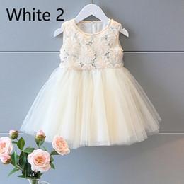Wholesale Korean Wedding Gown Wholesale - 2016 Summer Children Girls Rose Sequins Princess A-Line skirt Korean Princess wedding dress Flowers Pred Perry Ball Gown