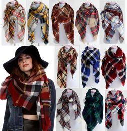 Wholesale Tartan Scarf Wholesale - 2016 Women fashion Plaid Scarf Warm Soft Winter Blanket Pashmina Scarf Oversized Tartan Scarf women Shawl Scarf Scarves & Wraps christmas