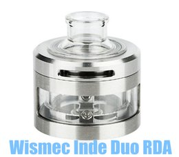 Wholesale Flow Designs - Wismec INDE DUO RDA Atomizer Airflow Control with Unique Vortex Flow Design Atomizer with 22mm and 30mm Two Choice Tubes INDE DUO RDA Tank