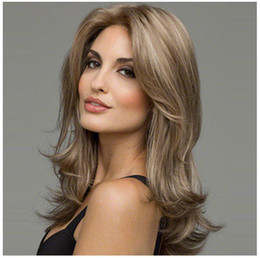 Wholesale Curly Wigs For White Women - Z&F Blonde 58CM Wigs For White Women Synthetic For Black Women Both Wave Curly European Style Fashion Popular