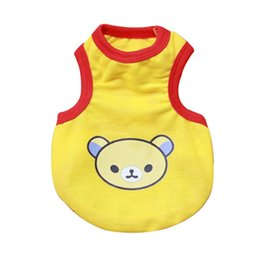 Wholesale Wholesale Apparel Bow Shirt - Pet Dog Cat Puppy Vest Clothes Bear Print T shirt Apparel Costume SizeXS-XL