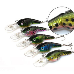 Wholesale Wholesale Rubber Fishing Baits - 2015 hot bionic bait S Lifelike ABS Rubber crap Style Fishing Bait Lures fish sea boat Lure slender body Minnow fishing tackle lure 10pcs