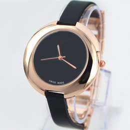 Wholesale Box Top Brands - Fashion Women Leather Watch Top Brand Rose Gold luxury lady Watch Japan movement Free Shipping Box