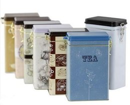 Wholesale Tin Tea Sets - AIBEI-ZAKKA Retro Tea Pot 2PCS SET Coffee Sealed Cans with cover Storage Tin Box Sugar Kitchen Jars
