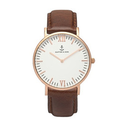 Wholesale Watch Women Rose Gold Square - 2016 KAPTEN&SON Quartz Brand Lady Watches Women Luxury Rose Gold Antique Square Leather Dress Wrist watch Relogio Feminino Montre