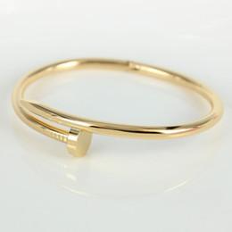 Wholesale Hot Bangle Designs Gold - HOT SALES titanium steel cuff bangles stainless steel nial shape women bracelet for women luxury famous brand design wrist bangle