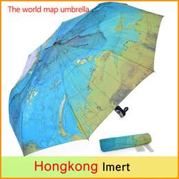 Wholesale Three Elephants Umbrellas - Safty World Map Umbrella & Three Elephants Folding Parasols Rain Umbrella World Map Oil Painting Umbrella Red Green For Sale Women Umbrellas