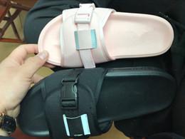 Wholesale Discount Pink Heels - 2017 New Discount Solarsoft Comfort Slide Sandals Cheap Fashion Men Women Black pink Sports Slippers Size 36-44