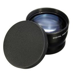 Wholesale Eos Rebel T3i - 58mm 2X magnification Telephoto Lens for Canon EOS 700D 650D 600D 7D 6D 550D 60D 70D 500D 1200D 1100D Rebel T5iT4i T3i T3 XTi XS