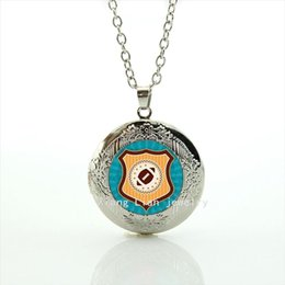 Wholesale Gold Jewelry For Children - Stylish cute cartoon locket necklace jewelry sport football rugby jewelry accessory gift for children and kids NF063