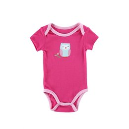 Wholesale Newborn Clothes Girls Cheap - 2016 Hot Newborn Baby Girl Clothes High Quality Cheap Triangle Unisex Baby Bodysuits Light Rose Color Size 0-12 Months Bebe Wear
