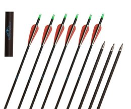 Wholesale Tips Arrows - 12pcs Huntingdoor Carbon Shaft 31 Inch Archery Arrows with Field Points Replaceable Tips Plastic Vanes for Hunting and Shooting