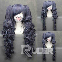 Wholesale Ciel Phantomhive Full - peruvian glueless full lace human hair wigs lace front wigs for>>>new 70cmX Long ASH-Ciel Phantomhive Anime Cosplay wig+2Clip On Ponytail