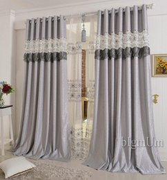 Wholesale Grommet Top Drapes - Embroidered Curtains For Living Room Bedroom Hotel Luxury Window Treatment Drapes Pink Purple Gray Yellow Customized Finished
