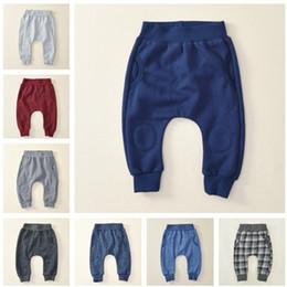 Wholesale Kids Haren Pants - Baby Clothing Winter Leggings Pants Boys Girls Cotton Tights Pants Kids Warm PP Trousers Solid Color Haren Pants Free Shipping