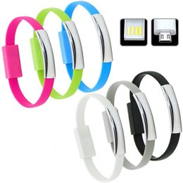 Wholesale Silicone Bracelet Mix Color - Silicone Magnetic Suction Creative Wristband Bracelet Charger Cable Micro USB Data Sync Cord High Speed 22CM for Samsung S7 HTC Blackberry