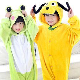 Wholesale Pink Hoodies For Dogs - 2017 Hot Sale Kids Animal Pajamas Cartoon Frog Dog Hoodies Cute Children Cosplay Costumes Unisex Onesie Sleepwear For Free Shipping