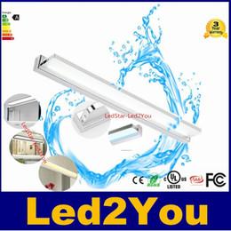 Lámpara led ba15d online-Acrílico Impermeable llevó la luz del espejo 9W 12W 16W 24W 30W Led luces de pared blanco AC85-265V SMD5730 luz de la luz delantera del espejo del baño