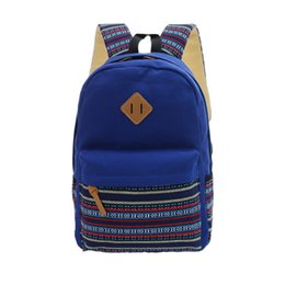 Wholesale Colored Canvas Bags - Women Double Zipper Backpack Teenager Girls Schoolbag Korean Canvas Bag Fashion Colorful Candy-colored Multi-pocket Casual Backpacks