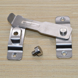 Wholesale Hotels Door Lock - free shipping Anti-theft deduction thick door security chain buckle hotel home building window door bolt lock DIY hardware part latch