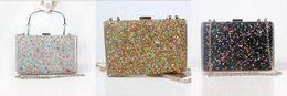 Wholesale Envelope Satchel - Shiny Bling Colorful Stone Mermaid Diamond Dinner Bag Bride Handbag Holding Clutches Top Handle  Cross-Body Satchel Wristlets Bags