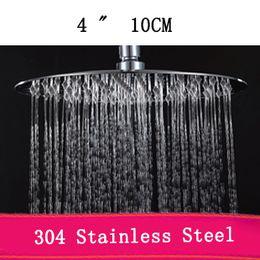 Wholesale Water Saving Head - 304 Stainless Steel shower head round 4inch 100pcs corton