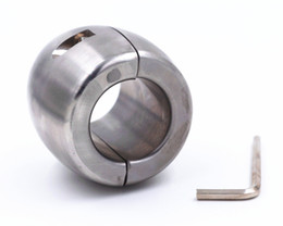 Wholesale Scrotum Ball Weights - Metal Scrotum Pendant Ball Stretchers Testis Weight penis Restraint cock Lock Ring 3 Size for choice