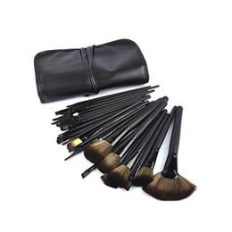 Wholesale Makeup Kit 32pcs - M brand Newest 32pcs 24pcs Professional Cosmetic Makeup Brushes set kit tool + Black Pouch Bag 32pcs set 24pcs set DHL Free