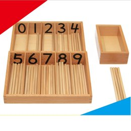 Wholesale Wooden Spindles - Montessori Teaching Sensorial Material Family Set Spindle Boxes with 45 Spindles Kindergarten Professional editionTool Wooden baby kids Toy