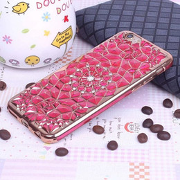 Wholesale Soft 3d Flower - For iphone 7 6 plus Fashion Diamond Bling Lady Flower Soft 3D TPU Case Cover For iphone6 6S