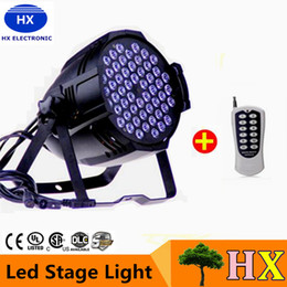 Wholesale Stage Lights Led Can - 4X Lot Free Shipping CE Approved RGBW 54*3W LED Par Light Stage DMX 512 led stage light 8 Channels Flat Led Par Can