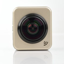 Wholesale Image Sensor Cmos - Sport camera Cube360S 4k HD panoramic view action build-in wifi waterproof 360 degree CMOS sensor support IOS ANDROID