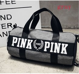 Wholesale Canvas Travel Bag Luggage - 2017 Canvas secret Storage Bag organizer Large Pink Men Women Travel Bag Waterproof Victoria Casual Beach Exercise Luggage Bags