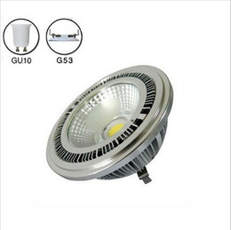 Wholesale Super Bright Led Spotlights - Super bright 10w COB led G53 AR111 lamp AC85-265V GU10 AR111 spotlight warm white cold white 3 years warranty