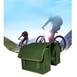Malas de porta traseira de bicicleta on-line-Novo verde Rack de Bicicleta Traseira Transportadora Cauda Tronco Duplo Pannier Bag Traseiro Camelo Pacote de Bicicleta Saco Pannier