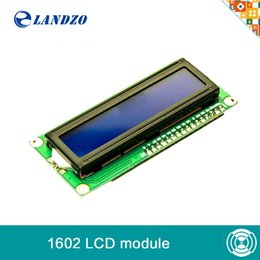 Wholesale Lcd Module Wholesale - Wholesale-1PCS LCD1602 1602 module Blue screen LCD1602 LCD monitor 1602 5V blue screen and white code for arduino