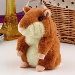 Wholesale Plush Talking - Cute 15cm Anime Cartoon Talking Hamster Plush Toys Kawaii Speak Talking Sound Record Hamster Talking Toys for Children