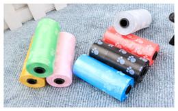 Wholesale Garbage Clean - Cute Dog Foot Painted Pet Dog Garbage Bag Clean-up Bag Pick Up Waste Poop Bag Refills Home Supply Convenient Dog Poop Bag