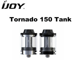 Wholesale Tanks 25 - Original Ijoy Tornado 150 Tank RTA Atomizer 25 mm Diameter 4.2 ml Tank Capacity Fit With 0.25ohm SS316L 0.3ohm Coil