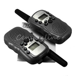 Wholesale Wireless Mini Walkie Talkie - T-388 2pcs Dual Black Adjustable Mini Portable Multi Channels 2-Way LCD 5KM UHF Car Auto VOX Radio Wireless Travel Walkie Talkie