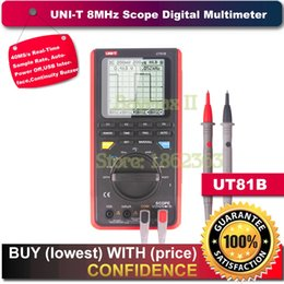 Wholesale Digital Oscilloscope Ut81b - Wholesale-Uni-t Ut81b Handheld LCD Scopemeter Oscilloscope Digital Multimeter