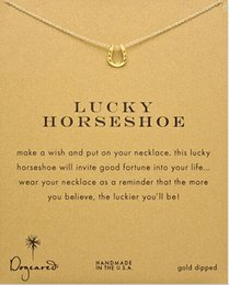 Wholesale Red Gold Lucky - Lucky Horseshoe Pendent Dogeared Necklace (Lucky Horseshoe), Noble and Delicate Jewelry,Punk Collar Bone Chain Classical Birthday Present