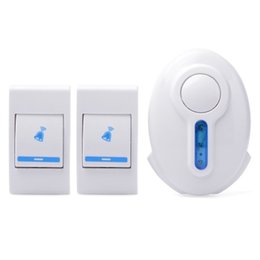 Wholesale Doorbell Rings - Free Shipping Music Wireless Doorbell with 2 Buttons doorbell home door ring sound door bell order<$18no track