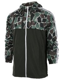 Wholesale Outdoor Running Clothes - high quality 2017 men's camouflage sports Jogging Clothing windbreaker hooded casual coat juvenile outdoor running clothing coat